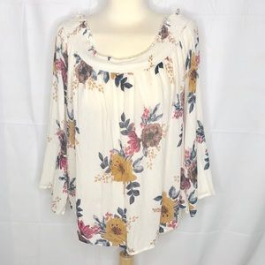 O'Neill Floral off the shoulder top size XL